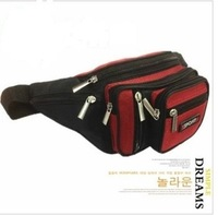 free shipping sports waist bag 8 pockets low price shoulder's bag for men 2013 new design fashion