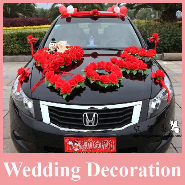 achetez en gros voiture de mariage d 233 coration avec des fleurs en ligne 224 des grossistes voiture