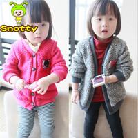 2014 New Arrival Batwing-Sleeved Baby Girl Jeans Blouses Children Denim Shirts Kids Spring Autumn Fashion Coat Denim KC1308