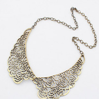 necklaces & pendants key men jewelry sets necklace women necklaces 2013 women Vintage carved  false collar metal cutout rose