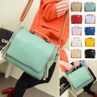 2015 new fashion 10 colors preppy style shoulder handbag stamp messenger bag women's handbag casual Bag
