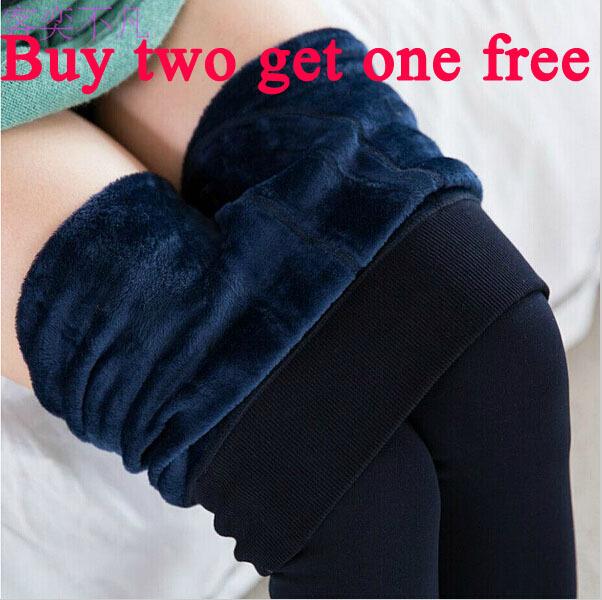 Hot warm caleçons étrier plus de velours d'hiver pour femmes leggings chauds pantalons de mode sexy avec une coupe vent/bottes de neige