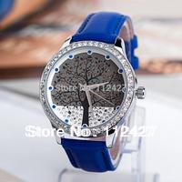 Brand watches with Skone Women wristwatches Christmas tree Watch dial Fashion quartz watch -TL001
