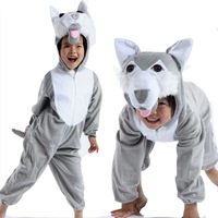 2014 new kids Animal romper,novel costume cartoon wolf baby clothing set /photography wear/modeling wear/performance romper