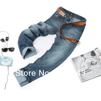 HOT!Free Shipping retail & wholesale brand pants,pants, Newly Style BUTTON fly Straight Cotton Men Jeans trousers no.2012