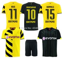 Borussia Dortmund 14 15 top Thai quality HOME YELLOW AWAY BLACK REUS Gundogan Hofmann HUMMELS SAHIN Soccer Jersey BVB