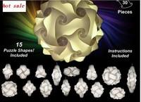 wholesale iq puzzle lamp iq jigsaw lights M size 300pcs per lot colorful pendant lights LED DIY adjustable chandelier lamp