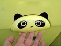 4pcs/Lot Free Shipping Car Door Handle Sticker /Cartoon Car Decal/Panda sticker 3 colors