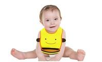 New Style Baby Animal PVC Rice Bib Stereo Disposable Bib Kids Bibs Children Pick Rice Pocket Boys And Girls Bids