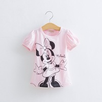 Free Shipping Baby Girls Boys Hello Kitty Tshirt  Minnie Cotton Short-Sleeved Casual T-shirts For Kids Children's T-Shirts