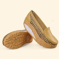Flat platform 2014 women genuine leather shoes summer leopard print women shoes casual fashion trend of four seasons women flats