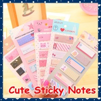 [FORREST SHOP] Kawaii Korean Vintage Cartoon Sticky Memo Pad Paper Notepad Post It Notes Cute Sticker (50 pieces/lot) FRS-145
