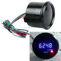 """New Universal Car 2"""" 52mm Blue LED Digital Tacho Tachometer Gauge RPM b11 TK1047"""