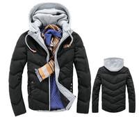 Best selling detachable cap slim fit men's casual winter coat warm thicken winter jacket for men Hot sale
