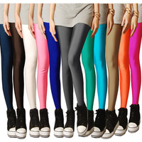 New 2014 Leggings for Women Spring Neon Candy Color Stretch Fashion Legging Pants Fitness Boots Cut  Plus size High Quality