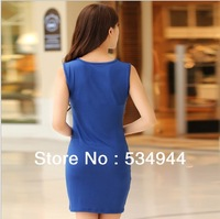 Free Shipping New  Korea Tight Sex Pendant show thin dresses color black blue SIZE  M L XL XXL XXL XXXL 4XL 5094