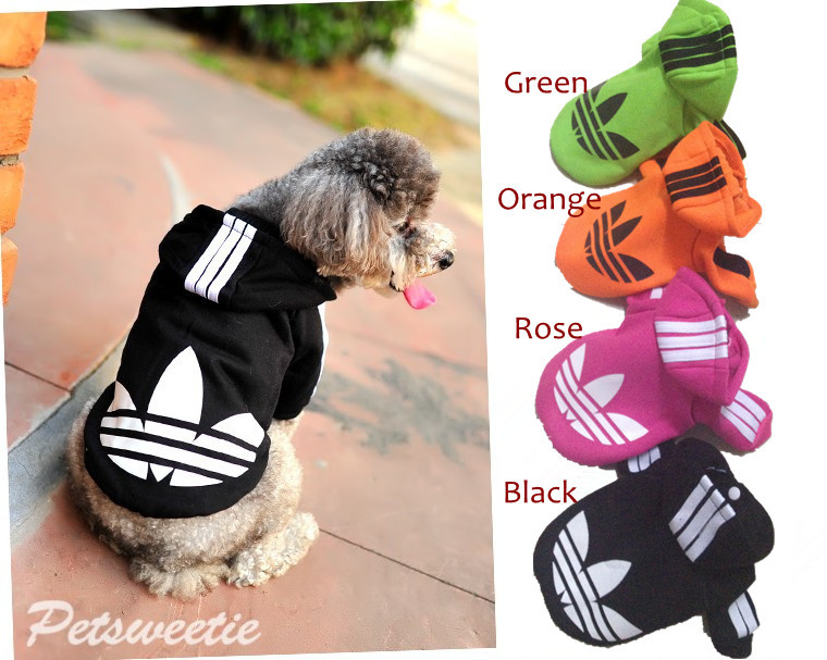 Free Shipping !! Fashionable Hooded Pet Dog Clothes Sports Hoody Jumper Puppy Jacket Coat Christmas Apparel S - XXL size(China (Mainland))