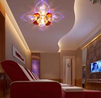 3W modern led ceiling lamp lights for home living room light crystal spot lighting AC200-240V abajur luminaria lustres de sala