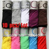 10 pcs / lot Boxer Shorts Trunk Underwear For Men Cuecas Ropa Hombre Calcinha Brand Calv Best High Quality Cheap Plus Size XXL