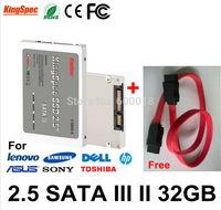 Kingspec 2.5 Inch SATA III SATA II SSD 32GB hard drive Solid State Disk MLC Internal Hard Drives ssd disk MAX:ssd hdd 64GB 128GB