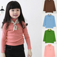 Free Shipping 2013 new autumn-summer colours Cotton pullover long sleeve girls&boys Baby children t shirts wholesale 5pcs/lot