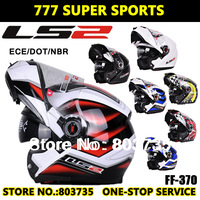 100% Genuine Motorcycle Helmet Capacete Casco Flip Up Modular Helmets Motor Protective Gears&Parts LS2 FF370 Free Shipping