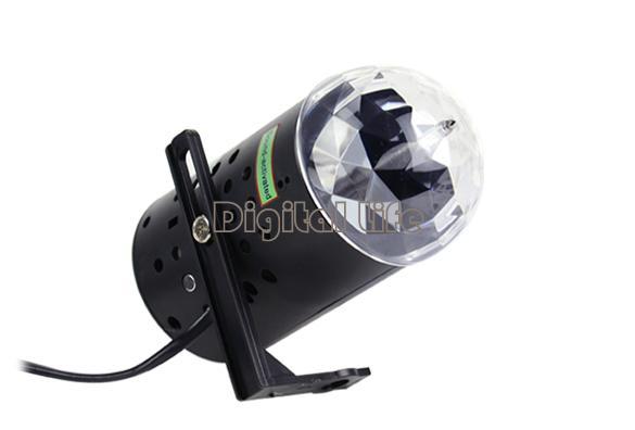 US Plug New RGB 3W Crystal Magic Ball Laser Stage Lighting For Party Disco DJ Bar Bulb Lighting Show 15540(China (Mainland))
