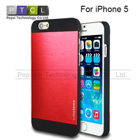 Motomo Brushed Aluminum Metal Plastic Slim Fit Hard Case Back Cover Fashion Ultra Thin For iPhone 5 5S Drop Shipping