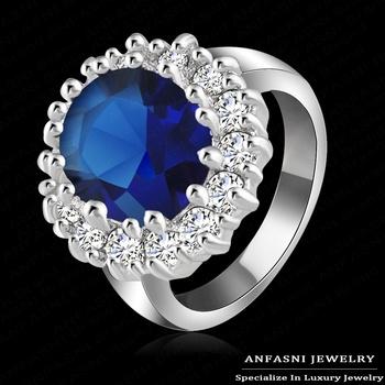 Роскошный Британский Кейт Принцесса Диана Уильям обручальное кольцо с Настоящее платиновая ...