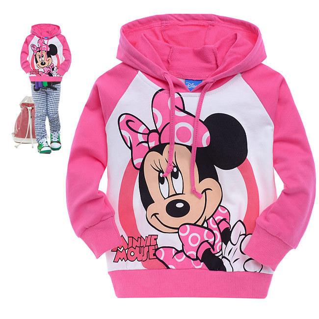 2-6yrs Childen Hoodies Autumn Hoodie Kids Minnie Children Clothing For Girls New Brand Cotton Terry Hood Coat 946 Free Shipping(China (Mainland))