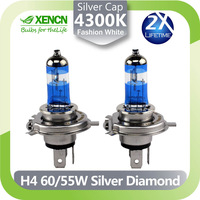 White Gold Tip Night Breaker XENCN H4 12V Replacement for Osram Quality Upgrade Car HeadLight Halogen Lamp Free Shipping 2PCS
