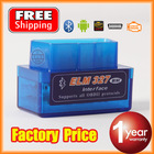 MINI Bluetooth ELM 327 V1.5 OBD2 / OBDII for Android Torque Car Code Scanner with free gifts FREE SHIPPING(China (Mainland))