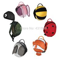 Children School Bag Nylon Backpack,Kids Travel  Backpack With  Animal Daysack-Clownfish,Anti-lost Bag,Baby Cartoon School Bag(China (Mainland))