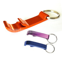 (500pieces/lot) beer key ring bottle opener, multi colors ,free shipping&customized laser engraving logo on 1 side