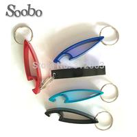 (500pcs/lot) bottle opener key chains, curve style keychain bottle opener, free shipping&customized laser engraving
