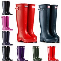 Free Shipping Brand New Fashion Rubber Rainboots Women Knee High Waterproof Wellies Boots Water Shoes   #TS8