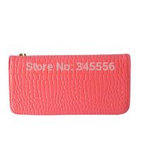 New 2014 Fashion Women Wallets Brand Women PU Handbags Evening Bags Ladies Purses Zipper Embossed Design Long Wallet TB1003