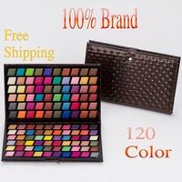 Good Quality Brand new fashion women professional 120 full color eye shadow makeup make up shadows eyeshadow palette 1pcs
