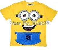 Free shipping  Summer cartoon despicable me minions kids t shirt  cartoon minions children's t shirt clothing boys tees t shirt
