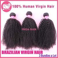 6A Unprocessed Human Virgin Brazilian Curly Hair Extensions Afro Kinky Curly Brazilian Virgin Hair Bundles 3pcs Hair Weft Weaves