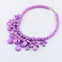 Women Necklaces Statement 2014 New Fashion Luxury  Bib Collar Choker Necklaces Jewelry  Beaded Chain