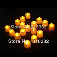 24pcs Flamless Flickering LED Tea Light Yellow Candle Tealight Wedding Party Birthday Christmas Decoration Free shipping