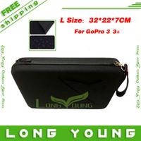 New Larger size gopro 3 case gopro hero 3 bag gopro storage bag for Gopro Hero4 go pro 3+  hero 3  hero3 +,free shipping