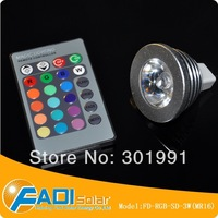 Free Shipping 3years warranty / E27/GU10/MR16 High Quality 3W RGB LED spot lights