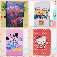 13 Models Hello Kitty/Despicable ME Cartoon Universal 7 inch Tablet Protective Case & Stand Cover For Samsung Tab 2 ,Pipo S1