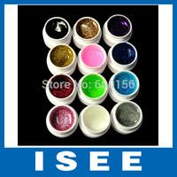 12 Color Glitter UV Nail GEL Nail Tools Gel for DIY Nail Art Nail Decoration