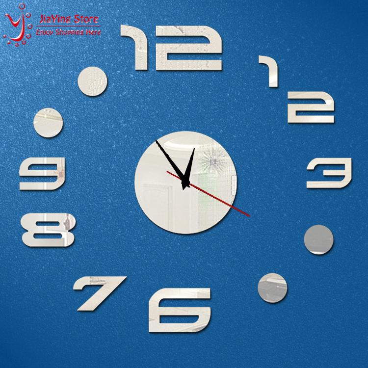 Hot Sale Home Decoration 3D Mirror Wall Clocks Safe Modern Design DIY Large Digital Watch Wall Sticker Big Clocks Home Decor(China (Mainland))