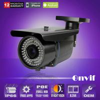 HD 2.0 Megapixel 1080P Varifocal 2.8-12mm Outdoor infrared Security IP Camera Weatherproof  POE Camera ANRAN