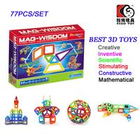 77PCS Mag-Widsom Magnets Toys Construction Set Building Blocks Lot Magformers