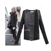New Women Winter Coat Retro Epaulette mosaic fashion o-neck slim cotton-padded woolen short jacket 19008